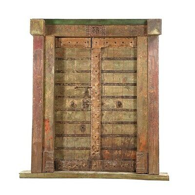 "88"" Maddison Door and Frame  Carved Antique Architectural Vintage Solid Wood Han"