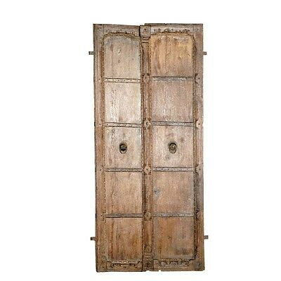 "66"" Leslie Door One of a Kind Carved Antique Architectural Vintage Solid Wood Ha"