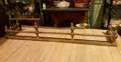 Brass Fireplace Fender Antique Vintage Architectural Hearth Hardware