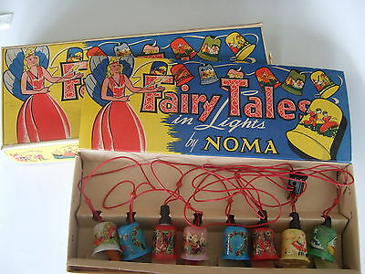 Vintage Fairy Tales in Lights Christmas Lights by Noma  No. 105 circa 1939