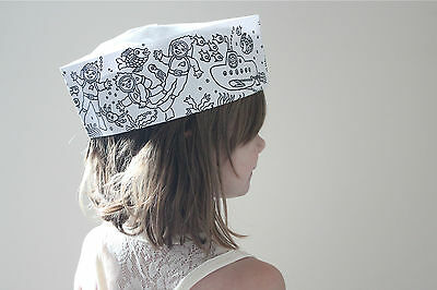 Color Me Paper Soda Jerk Hats 5 Pack Sea And Space