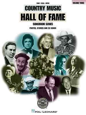 Country Music Hall Of Fame Volume 3 Music Book Piano/Vocal/Guitar Brand New Sale