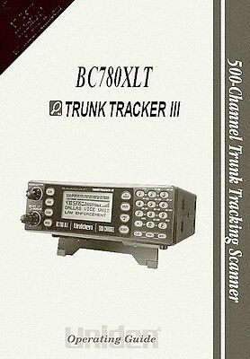 Bearcat BC-780XLT OWNERS MANUAL Radio Scanner Book Uniden on CD
