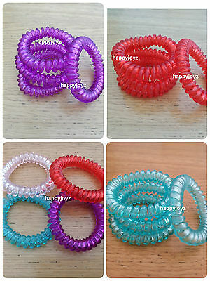 4 Hair band Pony tail hairband Large Spiral Spring Hair Ties Strong Elastic Band