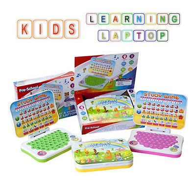 Kids English Learning Laptop Mobile Toy Children Educational Number Study Game