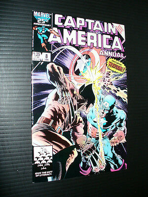 Captain America Annual #8: Key 1988 Marvel! CGC It!!  No Reserve!