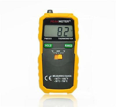 PEAKMETER PM6501 Portable Digital Thermometer K-type Thermocouple Thermometer