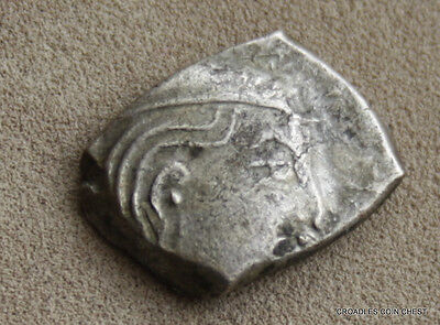 India Guptas Silver Hemidrachm  400 Ad Ancient Hammered  World Coin  #hmo8