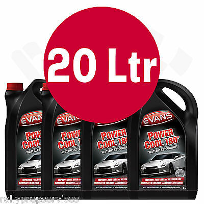 EVANS WATERLESS POWER COOLANT 180 - 20 Litre High Performance / Rally Car / Race