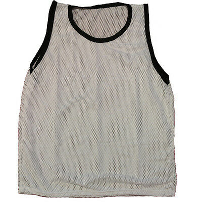 Workoutz Adult Scrimmage Vests (12 Qty, White ) Soccer Pinnies Football