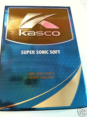 "Kasco Supersonic Soft Golf Balls Pack of 12 Balls ""FREE UK P&P"""
