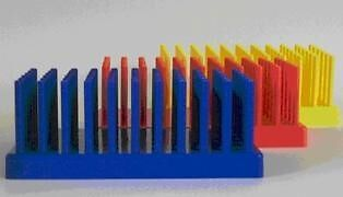 White Autoclavable Test Tube Racks / Supports / Holders (Item #217) - 6 Pieces