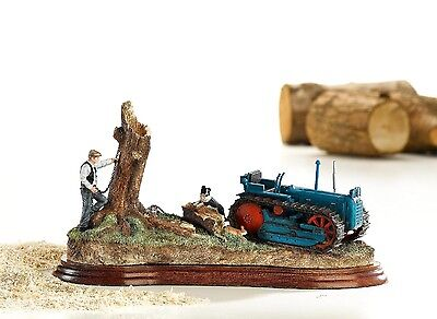 NEW Border Fine Arts Farming County Ploughman 55 Tractor Clearing Out