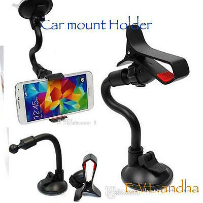 Universal Car Windshield Mount Holder Bracket For iPhone 6/5/4 Samsung Phone GP