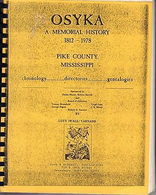 1980 Osyka A Memorial History Pike County Mississippi 1812-1978 Plastic Comb Vgc