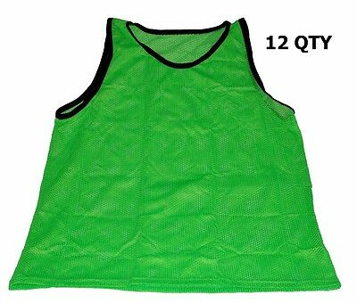 Workoutz Adult Scrimmage Vests Green (12 Qty) Soccer Pinnies Football Practice