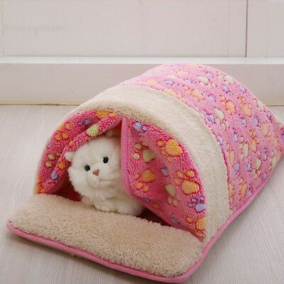 New Pet Dog Cat Sleeping Bag Warm House Puppy Kitten Kennel Bed Washable Nest