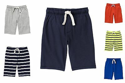 NWT Gymboree Boys Active Knit Jersey Pull-On Shorts Short U-Pick Colors L 10 12