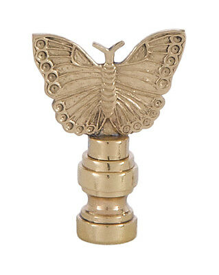 "BUTTERFLY LAMP FINIAL ~ Antique Brass Finish  { 3 3/8"" Tall } ~ by PLD"
