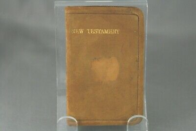 Mini New Testament Pocket Testament League Suede Leather Bound Early 1900's