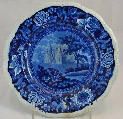 Transferware Dark Blue Stevenson Castles Plate Gadroon Edge Plate