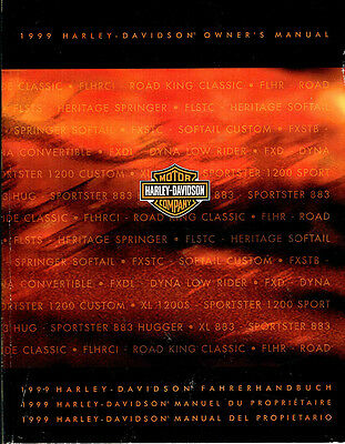 1999 Harley - Davidson Owners Manual, Vgc. Clean.