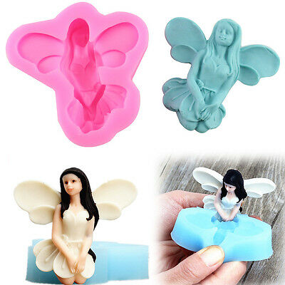 3D Flower Fairy Pixie Silicone Cake Chocolate Mould Fondant Soap Mold Sugarcraft