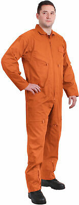 ORANGE Military Flight Suit Air Force Style Flight Coveralls Choose Size 7415