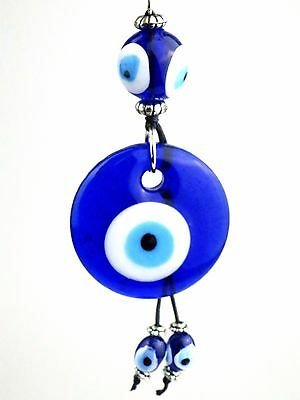 Evil Eye Crystal Keyring Ottoman Talisman Nazar Safety Protection Lucky Charm