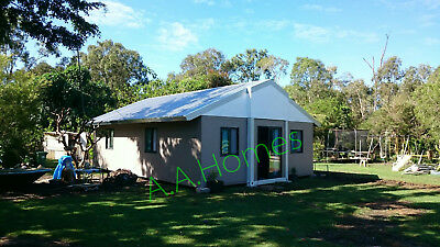 Angeli 60m2 Folding Home - 2 bedroom + Study. Includes Gable pitched Roof.