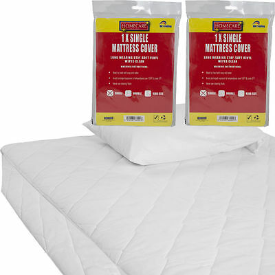 Fitted Mattress Protector Sheet Single,double & King Size Waterproof Vinyl