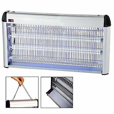 2 x 10W INDUSTRIAL RESTAURANT ELECTRIC FLY INSECT BUG KILLER ZAPPER UV 20W
