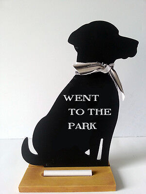 BLACK LAB Chalkboard Double Sided Decorative Country Message Center