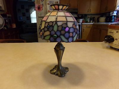 PartyLite Hydrangea Tiffany Style Stained Glass Tealight Candle Lamp