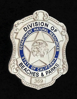 California State Parks - Beaches and Parks Badge PIN - 1950's
