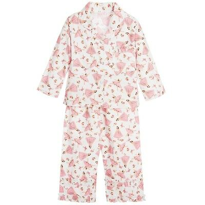 Girls Cotton Ballerina Pyjamas From Powell Craft Plus Matching Gift Box!
