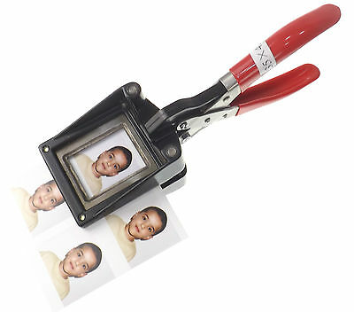 UK GB Passport ID Photo Stainless Steel Blade Square Cutter Picture Punch