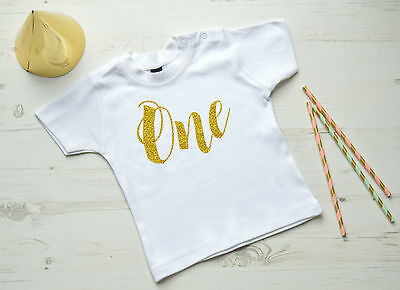 1st Birthday T Shirt | First Birthday Outfit | White SS One