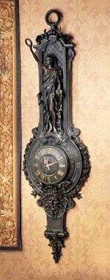 """Antiqued French Style Liberté Grande Palace Sculptural  51""""H  Wall Clock"""