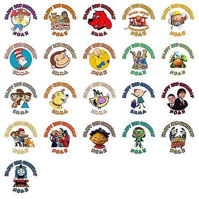 60 PBS Kids Birthday Stickers Lollipop Labels Party Favors 1.5 in YOU PICK
