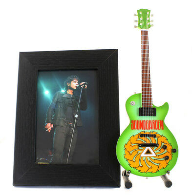 Miniature Guitar CHRIS CORNELL with stand. PHOTO + FRAME 6x4 SOUNDGARDEN