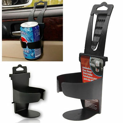 Universal Vehicle Car Truck Door Mount Drink Bottle Cup Holder Stand Black AV