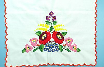 Authentic Hungarian KALOCSA EMBROIDERY Colorful TABLE RUNNER