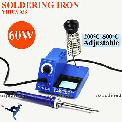 60W Soldering Iron Station Temperature Adjustable for General Electronic AU Ship