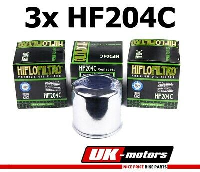 3x HIFLO Oil Filter HF204C Yamaha YZF-R6 600 S Edition