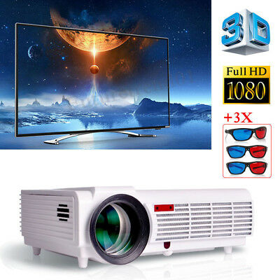 5500Lm HD LCD 3D LED-96 Multimedia Projector Home Theater 1080p HDMI USB VGA TV