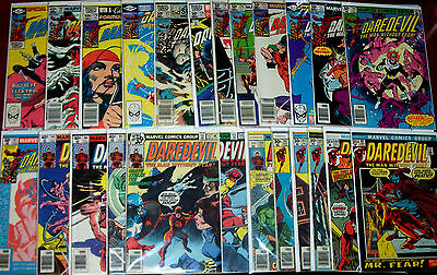DAREDEVIL #91-208 The Man Without Fear! 48 Bronze-Age Issues Frank Miller & more