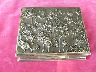 Striking Arts And Crafts / Art Nouveau Sterling Silver Box With Poppies