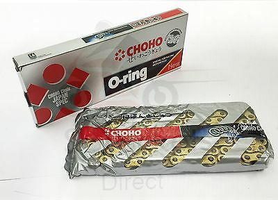 New CHOHO Heavy Duty O Ring Gold Motorcycle Chain 525 x122 for Triumph 800 Tiger