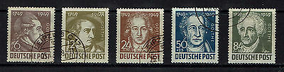 "GERMANY ALLIED OCC. (Soviet) 1949 #234-238 (x)fu ""set"" E206d"